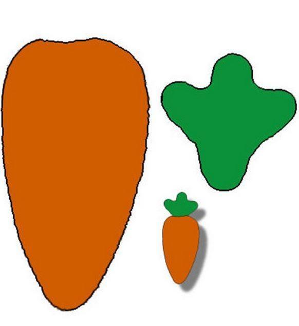 Шаблон морковь для вырезания из бумаги
